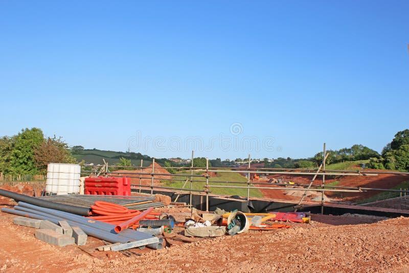Road bridge under construction royalty free stock image
