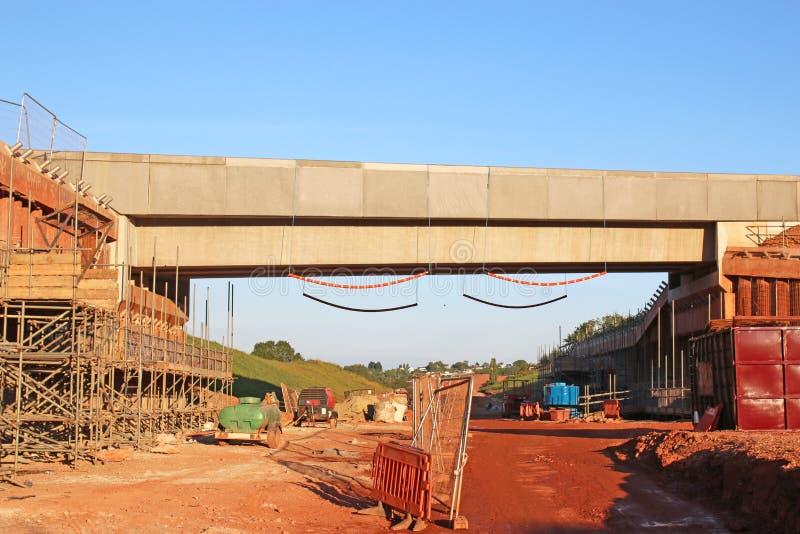 Road bridge under construction stock images