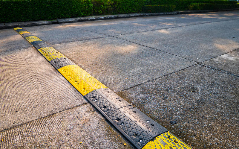 road bumps for reduce speed. stock images