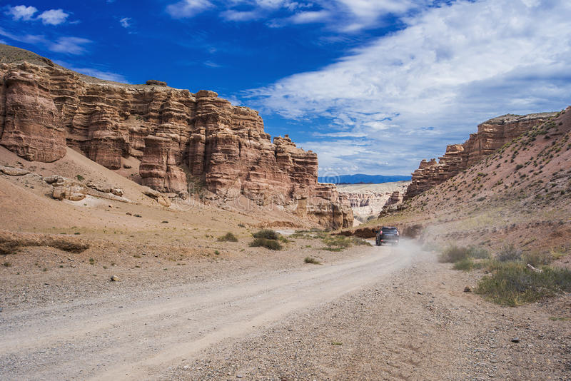 Road in canyon royalty free stock image