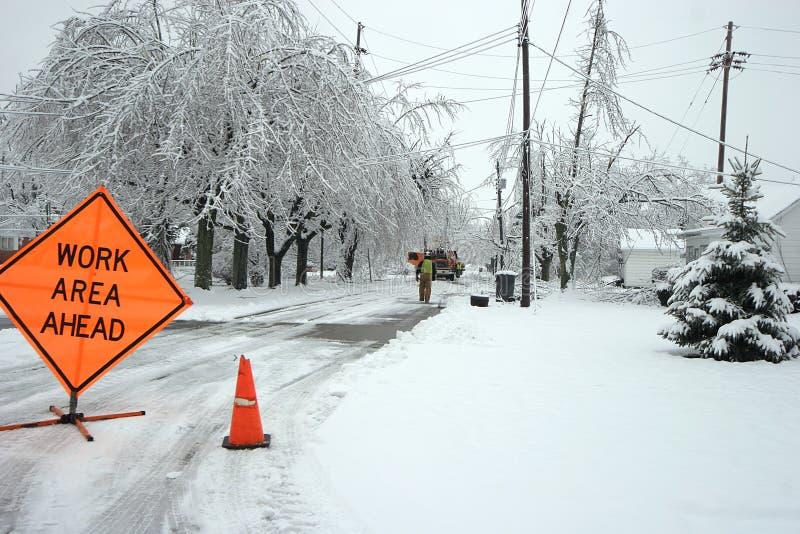 Download Road closed stock image. Image of snow, tree, road, hazardous - 1487511