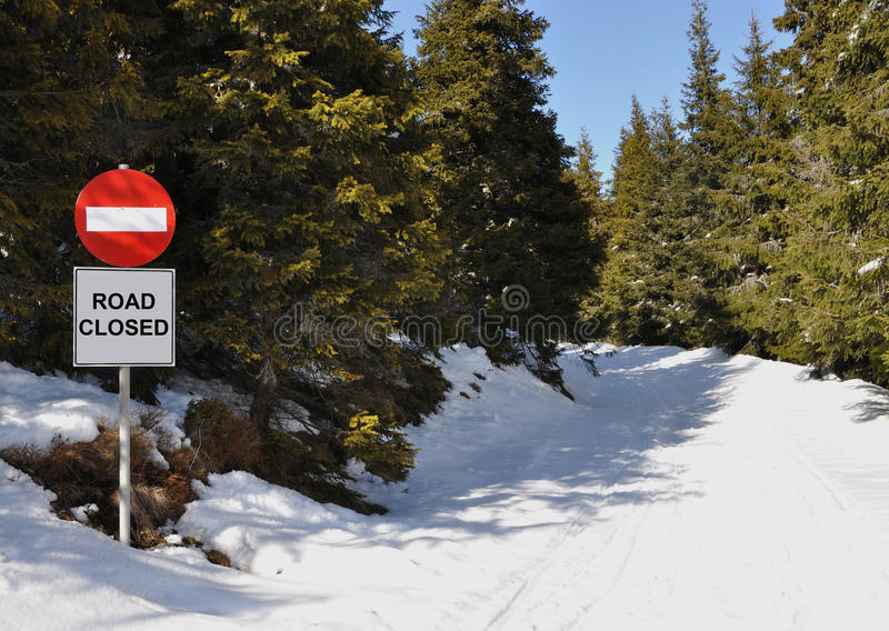 Download Road closed stock image. Image of tree, cold, working - 18797435