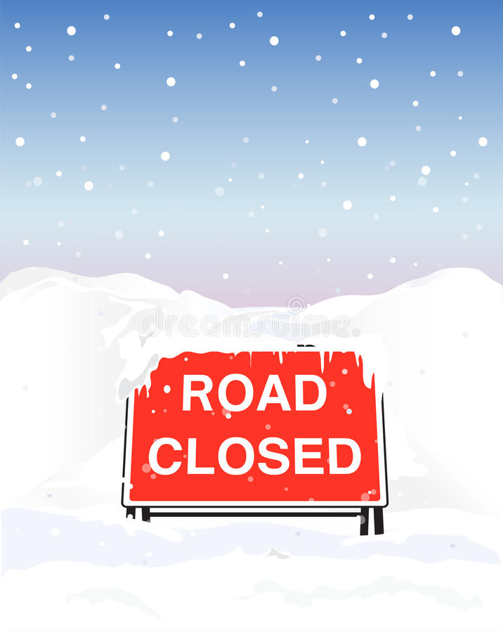 Download Road closed stock vector. Image of closed, impassable - 22769871