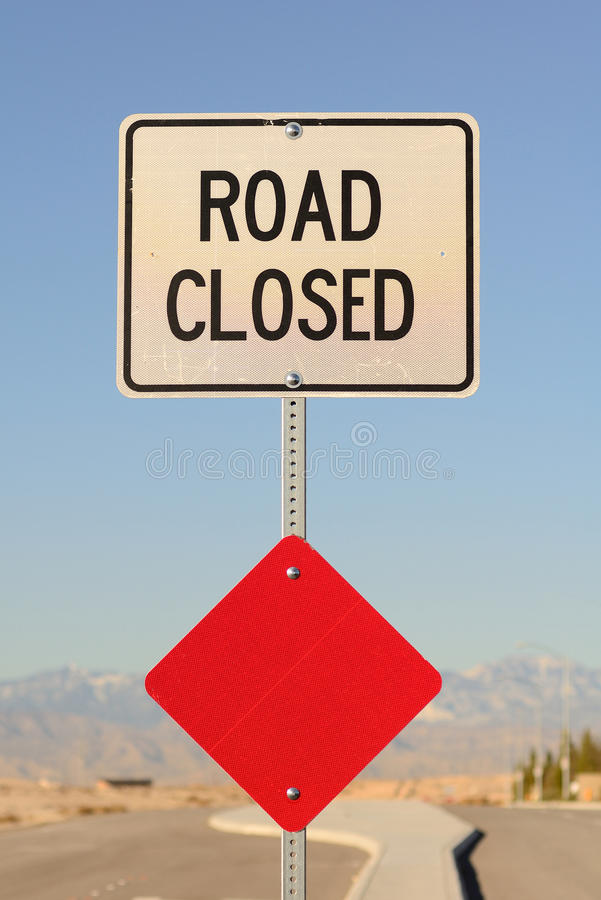 Download Road Closed stock photo. Image of signage, obstacle, road - 23229730
