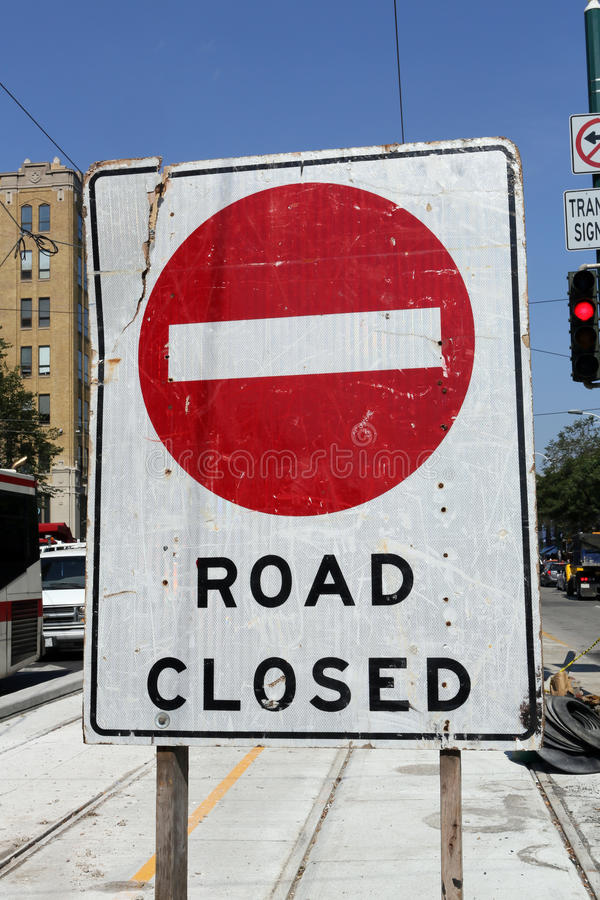 Download Road Closed stock photo. Image of construction, streetcar - 26815986