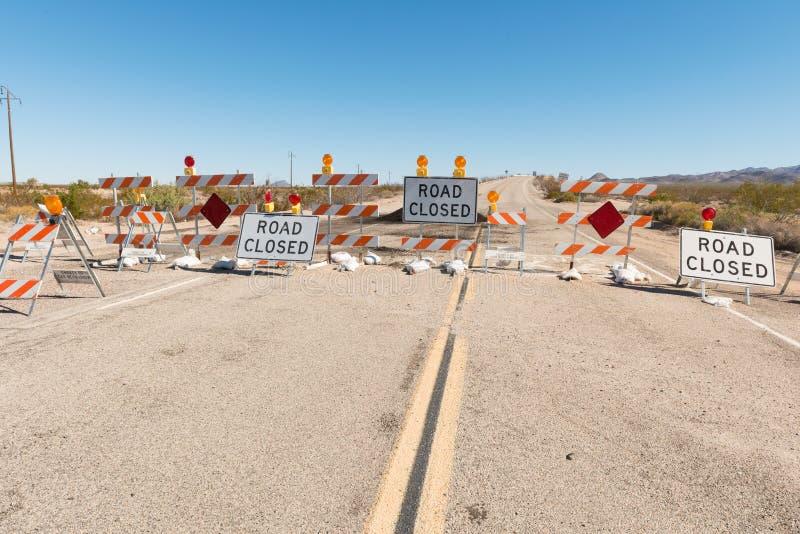 Road Closed stock photos