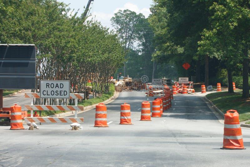 Road Closed at New Construction stock photos