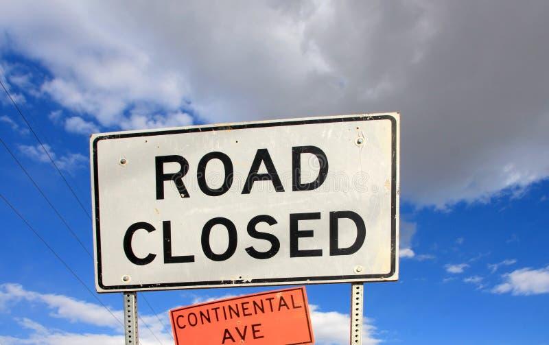 Download ROAD CLOSED sign stock illustration. Illustration of forbidden - 23728135