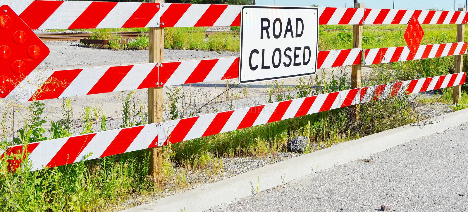 Download Road Closed Sign stock photo. Image of summer, black - 32538384