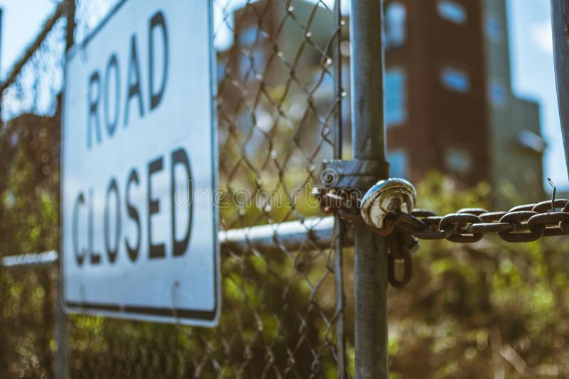 Road Closed Signage royalty free stock photos