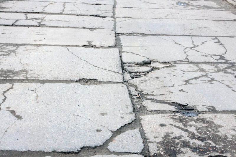 Road of concrete slabs royalty free stock images