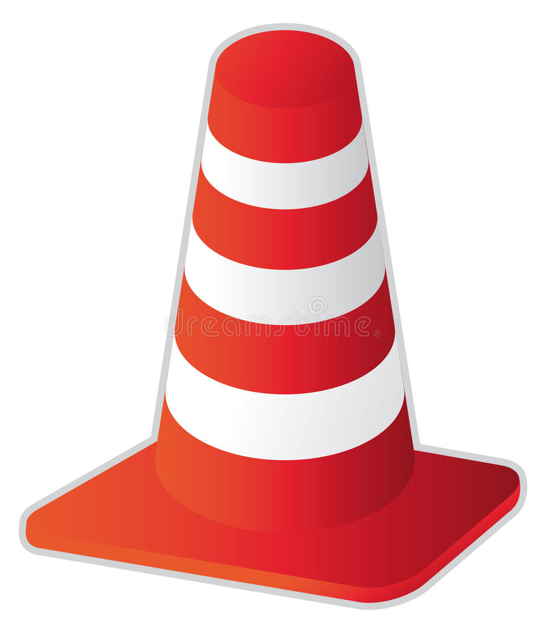 Download Road cone stock vector. Image of illustration, caution - 11853194