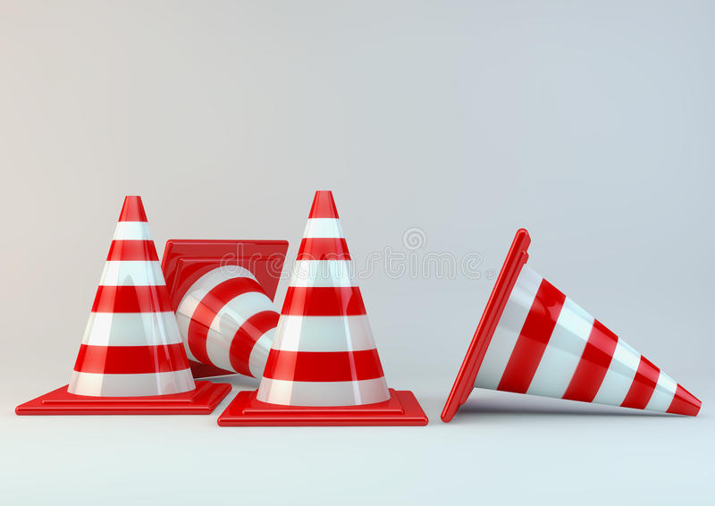 Road cone stock illustration