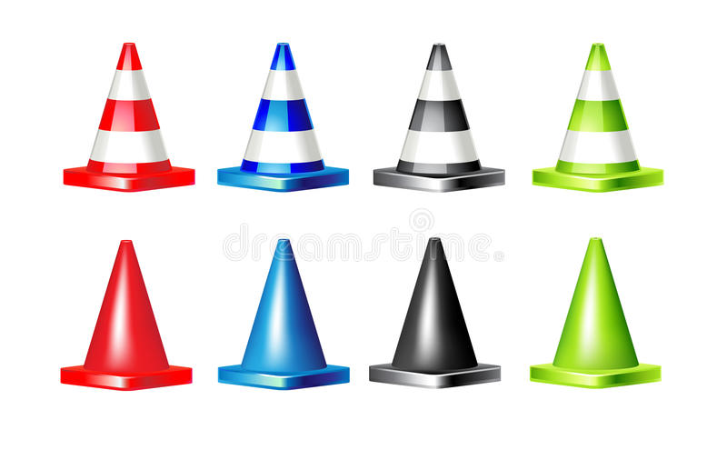 Road cone royalty free illustration
