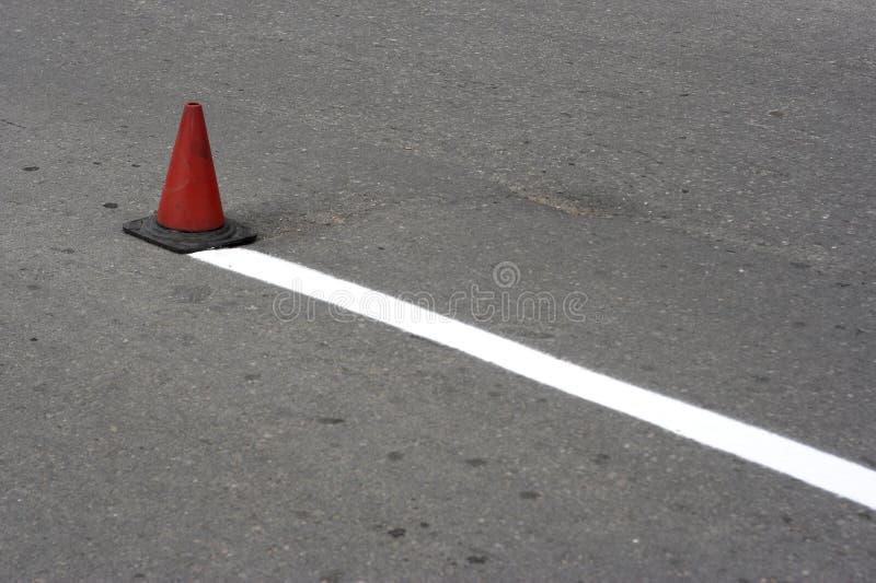 Road cone stock photo