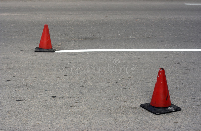 Road cone royalty free stock images