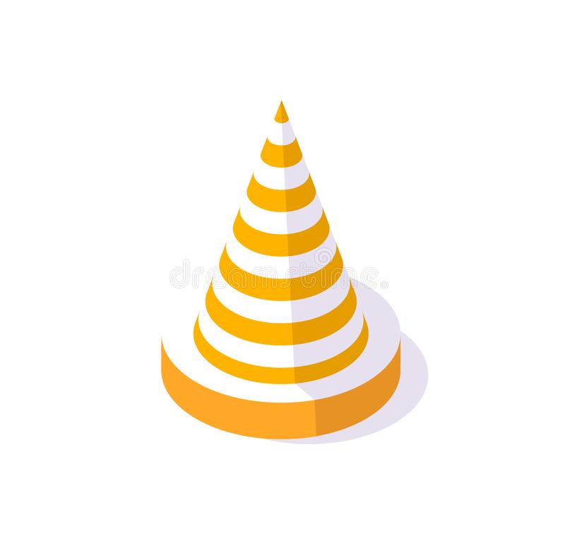 Road Cone, Street Sign to Forbid Traffic Caution royalty free illustration