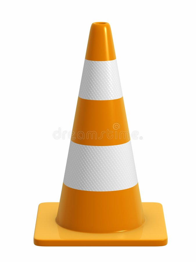 Free Road Cone With Reflective Band Stock Photography - 2348432