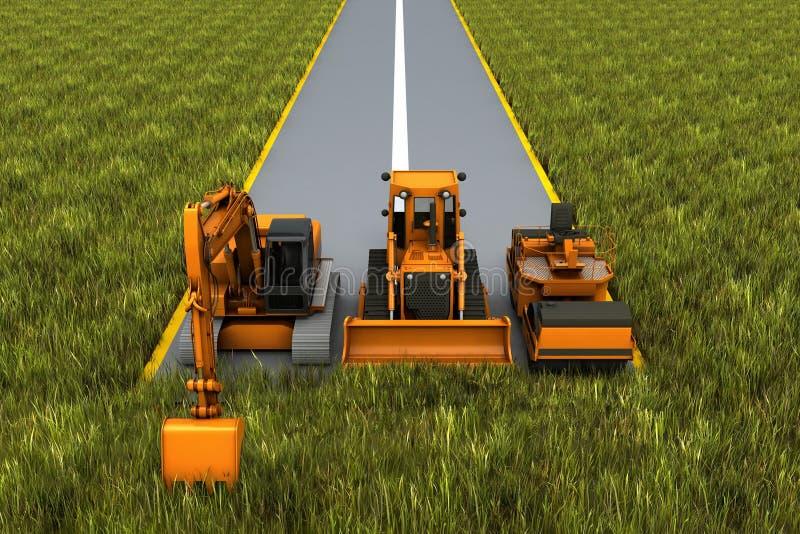 Road construction royalty free illustration