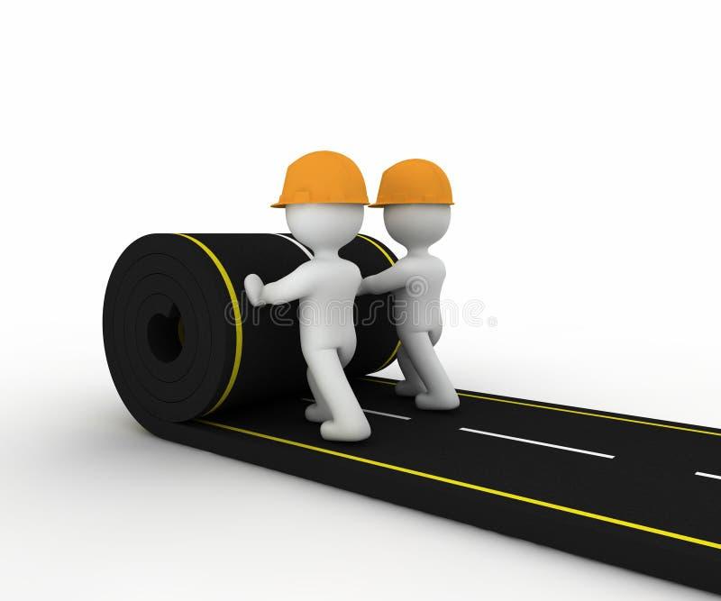 Road construction stock illustration
