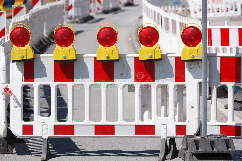 Road construction stock image
