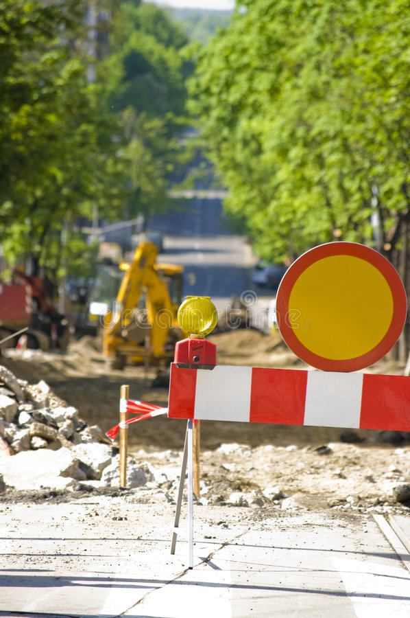 Road Construction Site Stock Image
