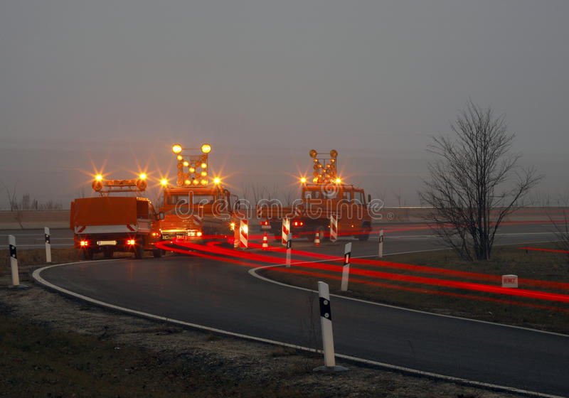 Download Road Construction At Twilight Stock Photos - Image: 13417743