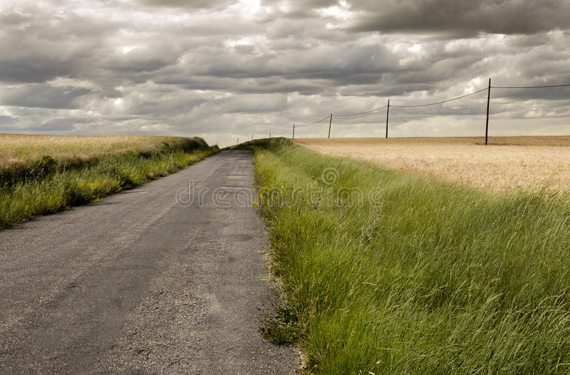 Download Road through countryside stock image. Image of background - 25362091