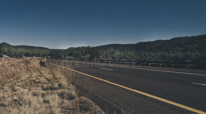 Road through countryside royalty free stock image