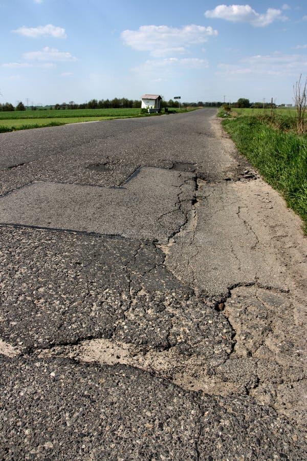 Road cracks stock images