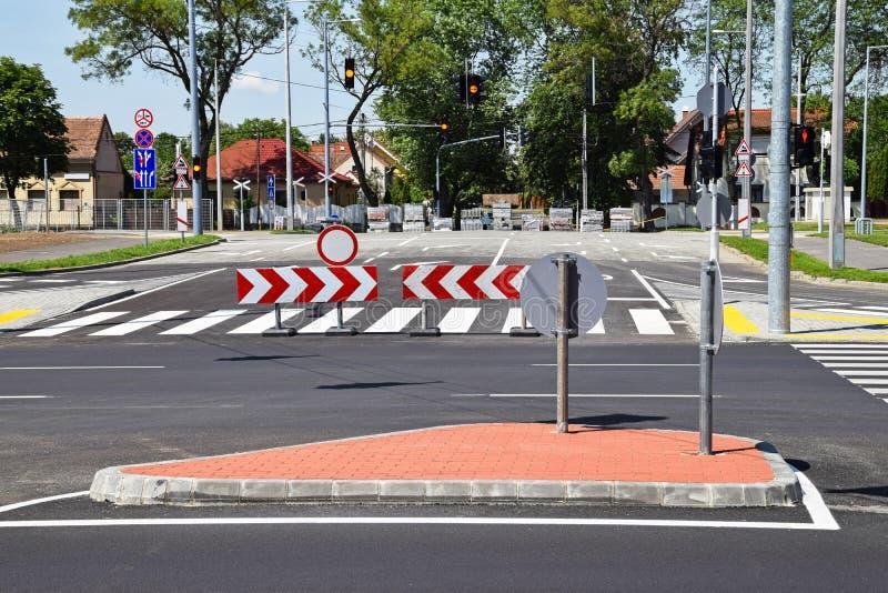 Road crossing royalty free stock photos