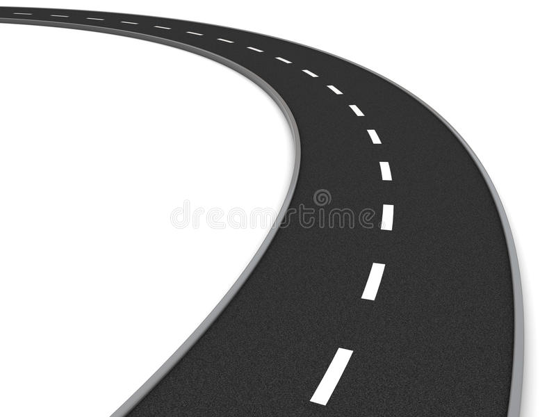 Download Road curve stock illustration. Illustration of perspective - 12877407