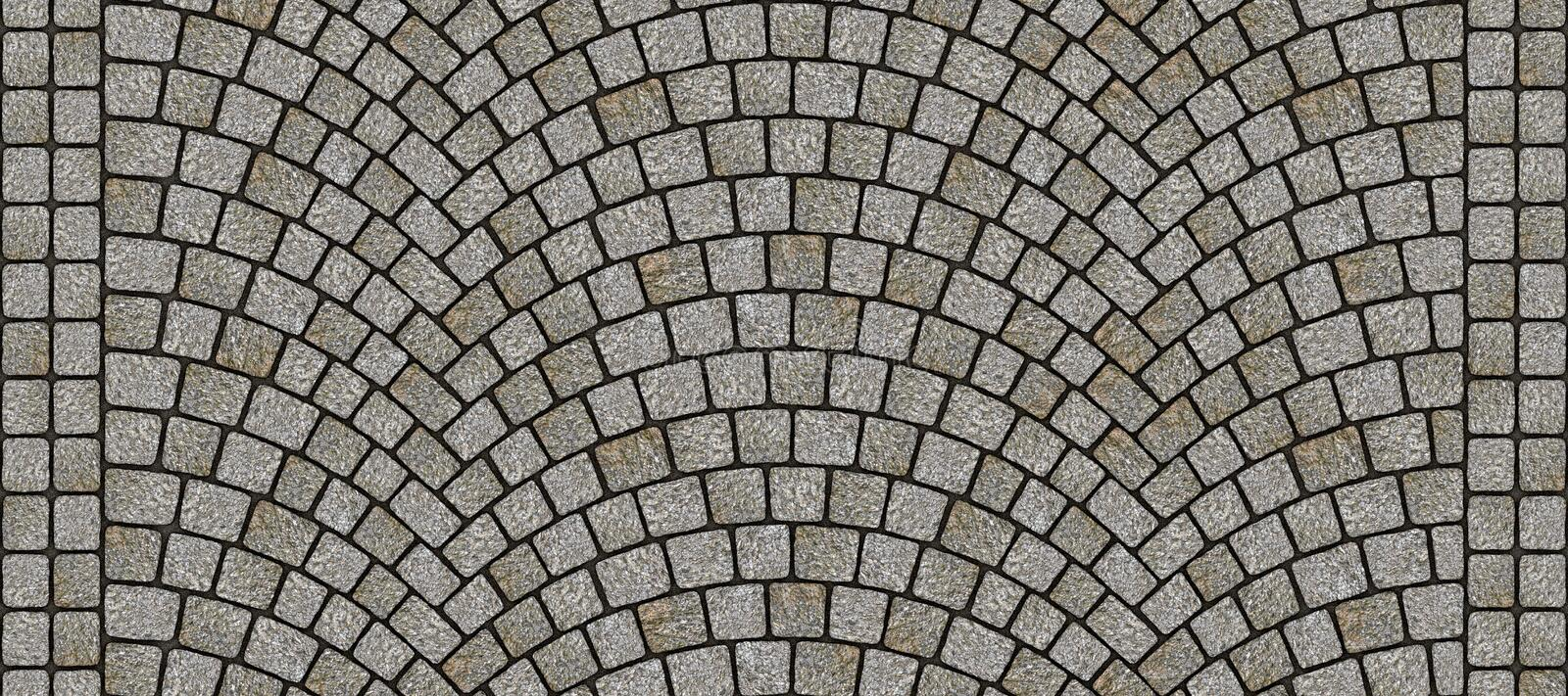 Road curved cobblestone texture 078 vector illustration