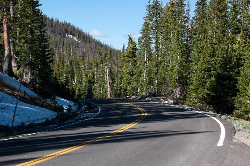 The road ahead in the mountains royalty free stock photos