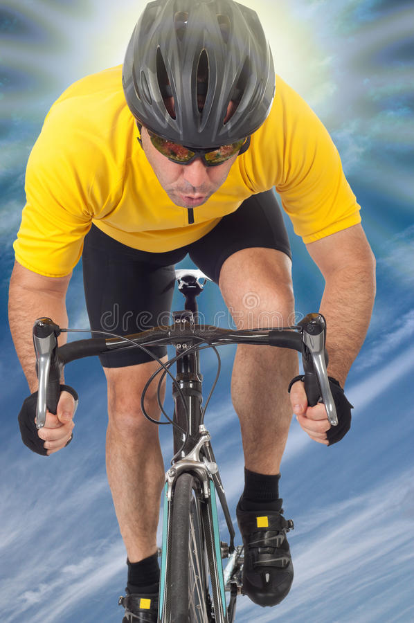 Road cyclist stock images