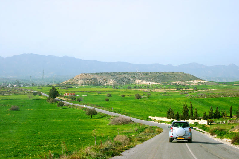 Download Road in Cyprus. stock photo. Image of road, image, green - 17501092