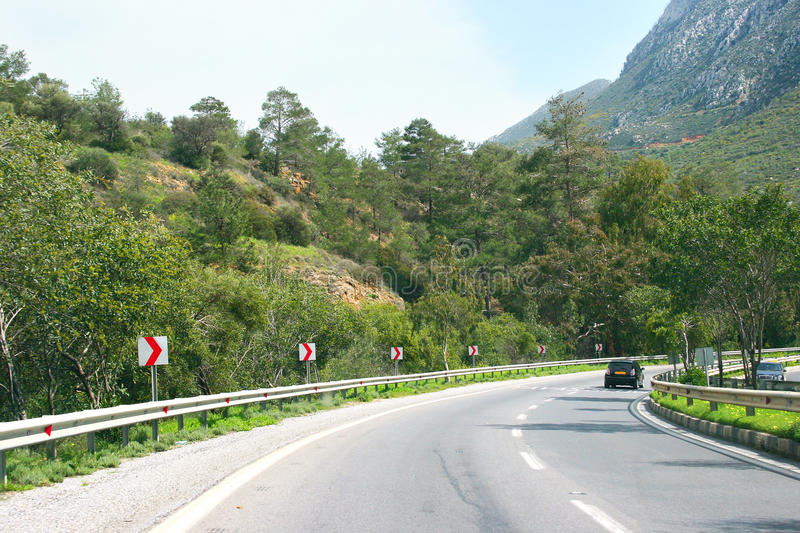 Road in Cyprus royalty free stock image
