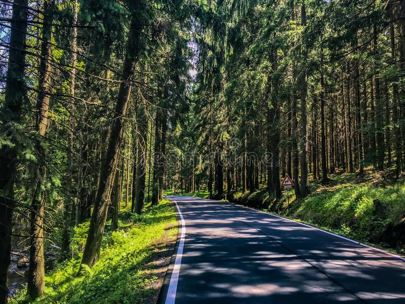 Road Czech Republic royalty free stock photo