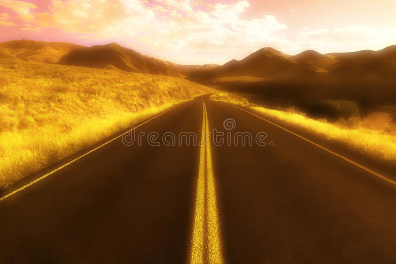 Download Road In The Daytime stock image. Image of driven, double - 17066987