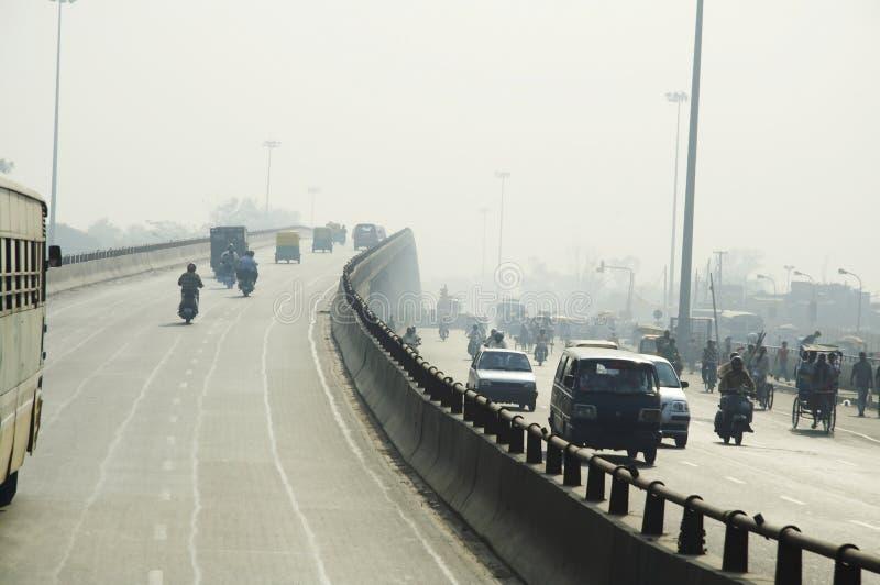 Road in Delhi city stock photos