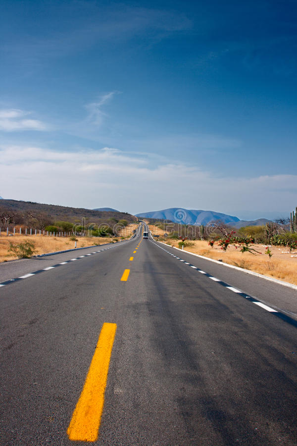 Road in desert royalty free stock photos