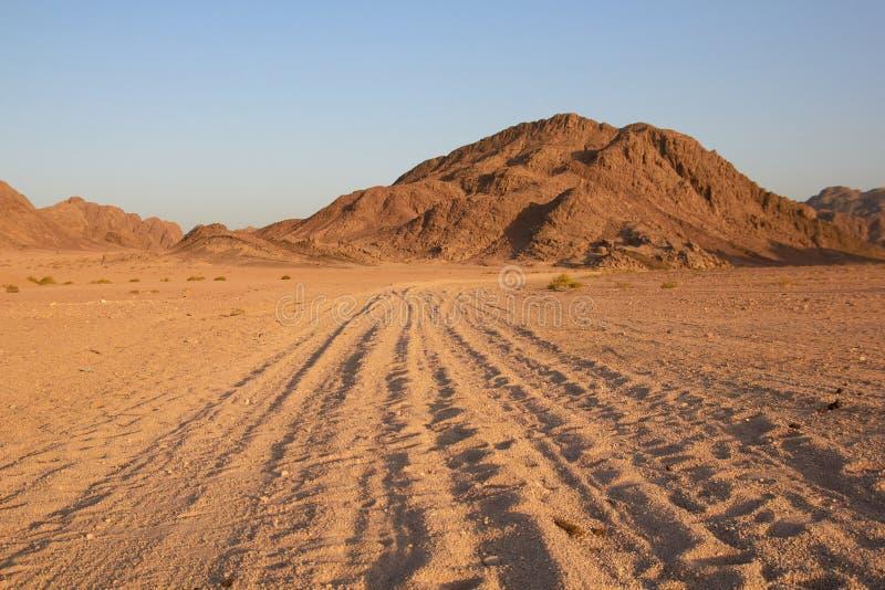 The road in the desert. Egypt stock image
