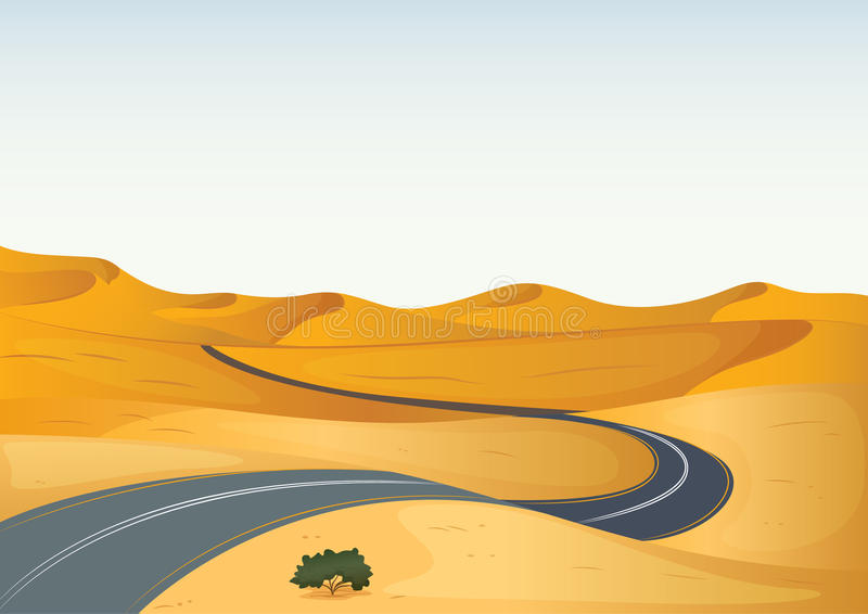 Road In A Desert Royalty Free Stock Photography