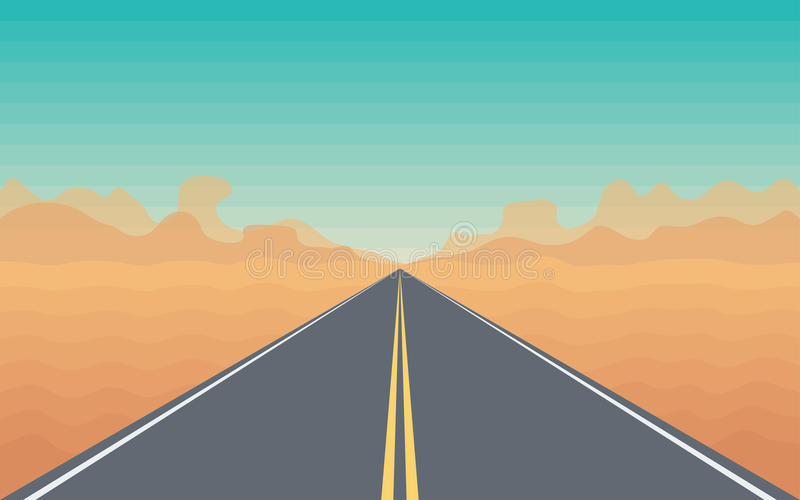 Road in The Desert royalty free illustration