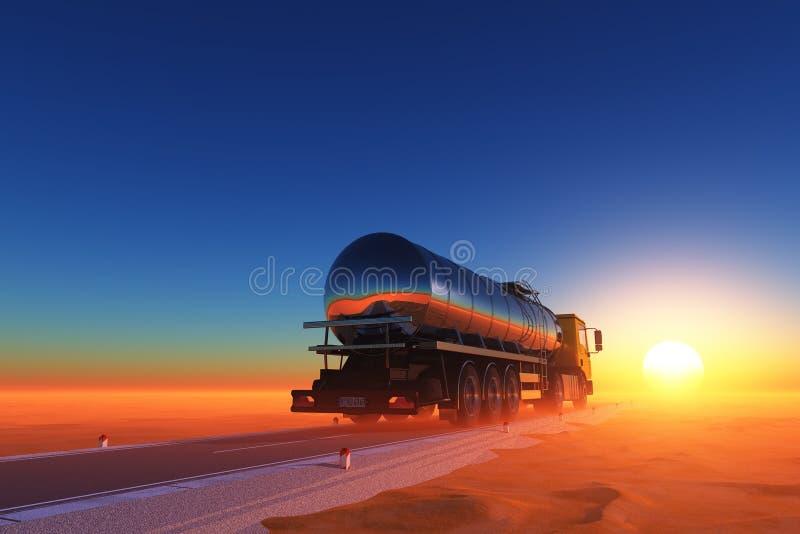 Road in the desert. vector illustration