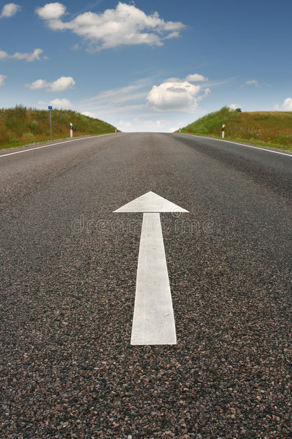Free Road Direction Arrow Stock Image - 5975421