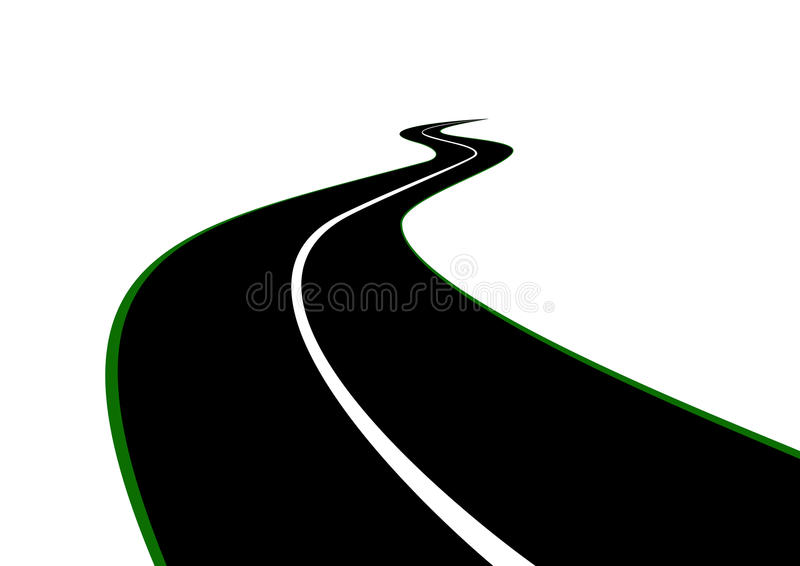 Download Road with a dividing strip stock vector. Image of industry - 19121937