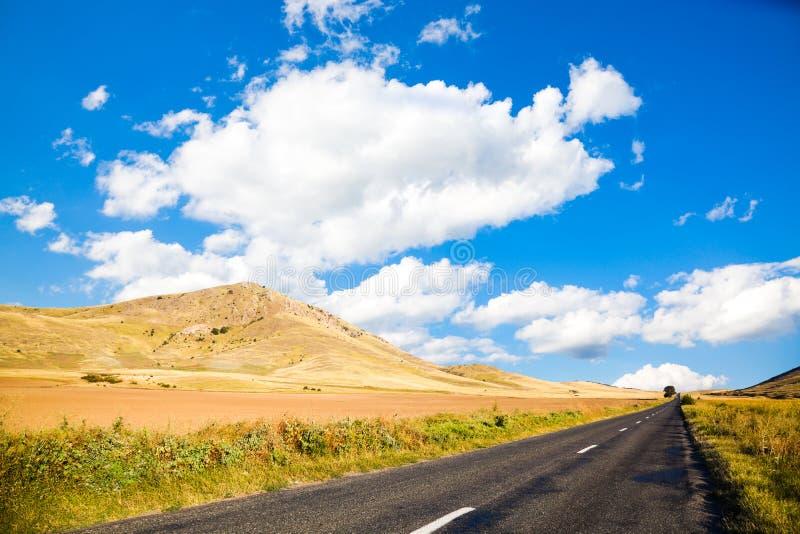 Road in Dobrogea stock image