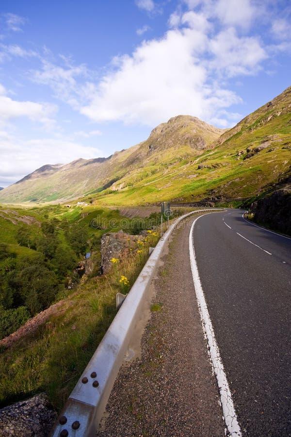 Road down into Glen Coe stock photography