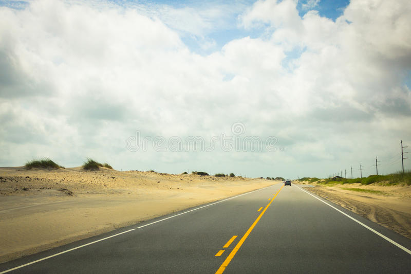 Road Dunes in Hatteras royalty free stock image